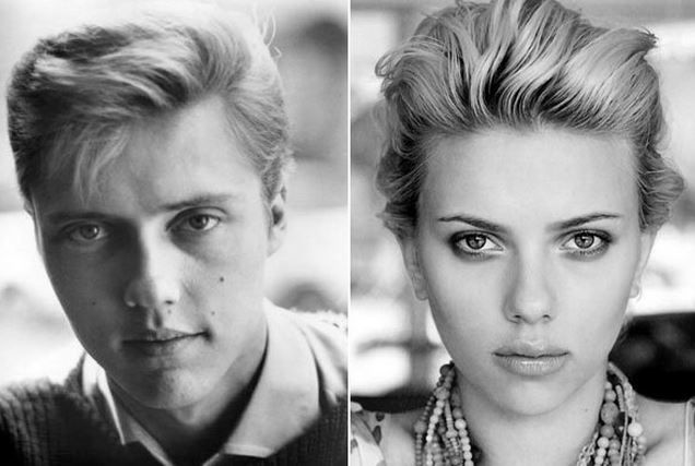 Christopher Walken and Scarlett Johansson