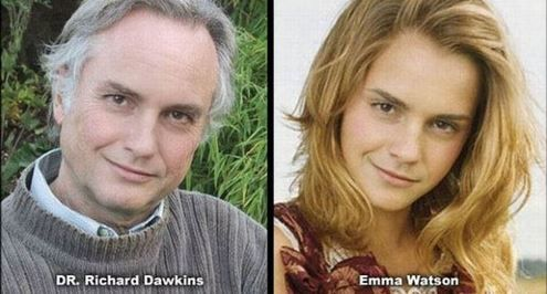Dr Richard Dawkins and Emma Watson