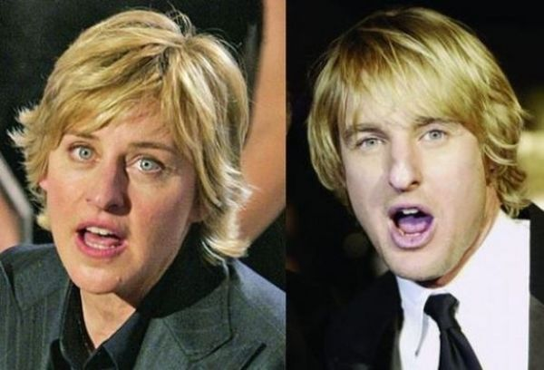 Ellen DeGeneres and Owen Wilson