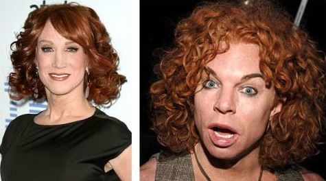 Kathy Griffin and Carrot Top