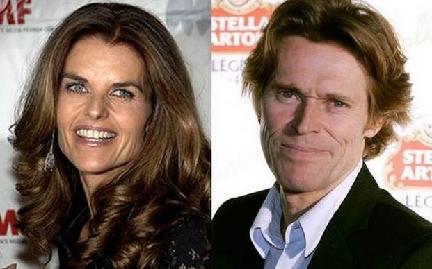 Maria Shriver and Willem Dafoe