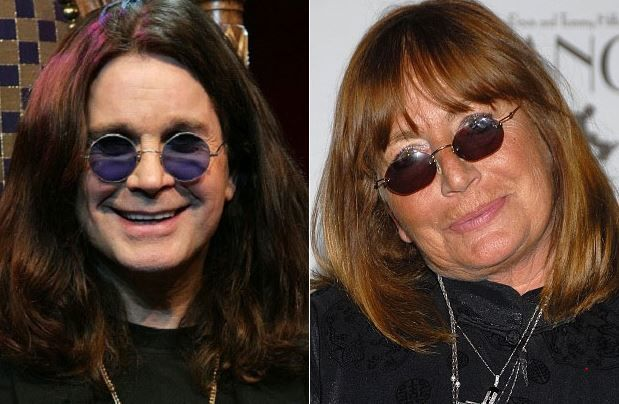 Ozzy Osbourne and Penny Marshall